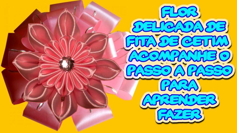 Flor Delicada de Fita de Cetim Maravilhosa - Aprenda a Fazer Acompanhando Este Passo a Passo DIY - #02