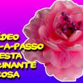 Vídeo Passo-a-Passo - Como Fazer Esta Fascinante Rosa De Fita De Cetim Cor Rosa - DIY PAP Vídeo-Aula
