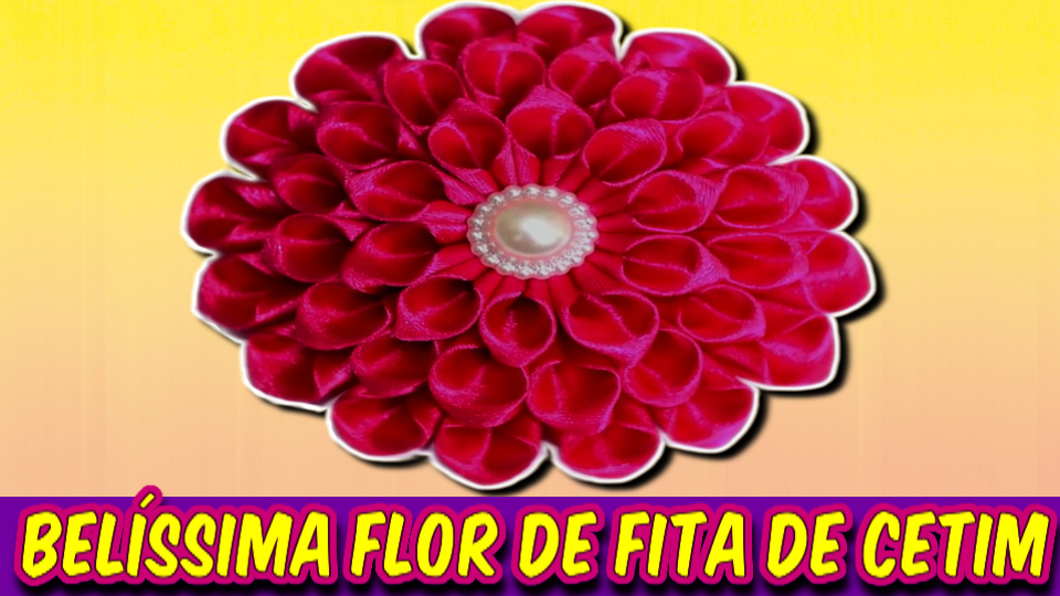 Como Fazer Esta Fascinante Rosa De Fita De Cetim Rosa - DIY PAP Vídeo-Aula