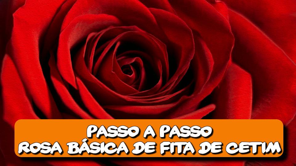 Artesanato de Fita de Cetim Passo a Passo Fácil Rosa Vermelha Básica