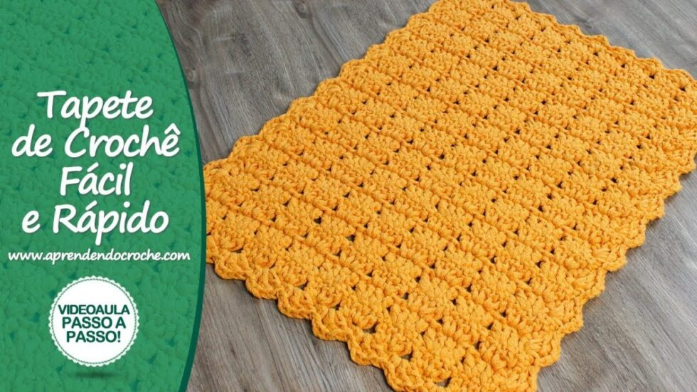 Tapete De Crochê Fácil E Rápido - Easy And Quick Crochet Carpet