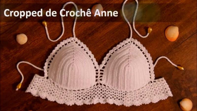 Tutorial de Crochê Passo a Passo - Cropped de Crochê Anne - Tamanho Único - Professora Simone