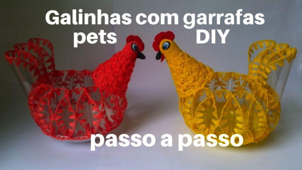 Galinhas feitas com Garrafas Pets - Passo a Passo – Passo A Passo [Vídeo Aula]