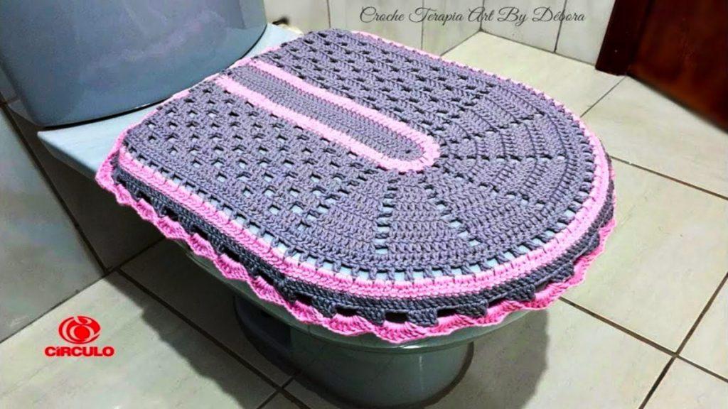 Tampa Vaso - Jogo De Banheiro De Crochê Simples – Passo A Passo [Vídeo Aula]