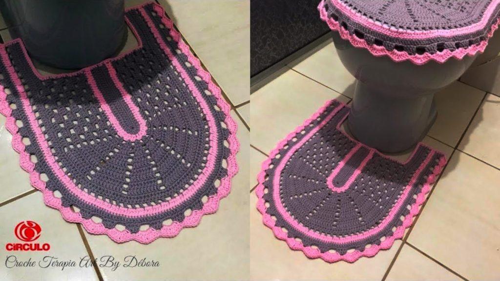 Tapete Pé do Vaso - Jogo de Banheiro de Crochê Simples – Passo A Passo [Vídeo Aula]