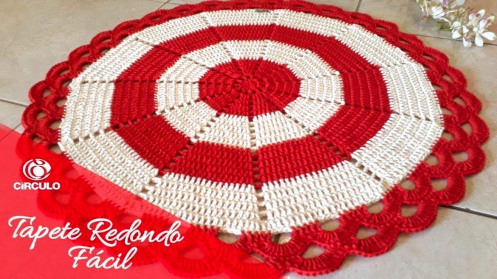 Tapete Redondo Fácil em Crochê – Passo A Passo [Vídeo Aula]
