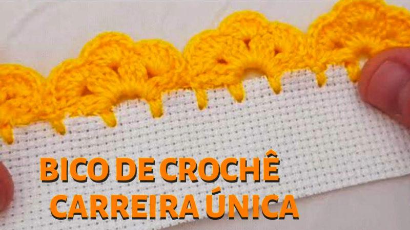 BICO DE CROCHÊ - CARREIRA ÚNICA PONTO DE CROCHÊ PASSO A PASSO [VÍDEO AULA]