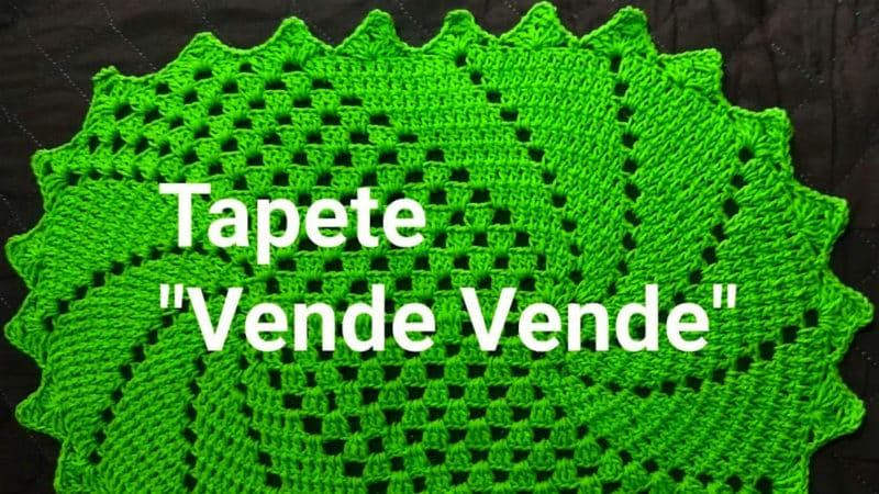 """TAPETE """"VENDE VENDE"""" PONTO DE CROCHÊ PASSO A PASSO [VÍDEO AULA]"""