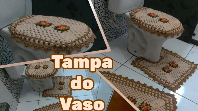 TAMPA DO VASO - JOGO DE BANHEIRO EM CROCHÊ | PASSO A PASSO [VÍDEO AULA]