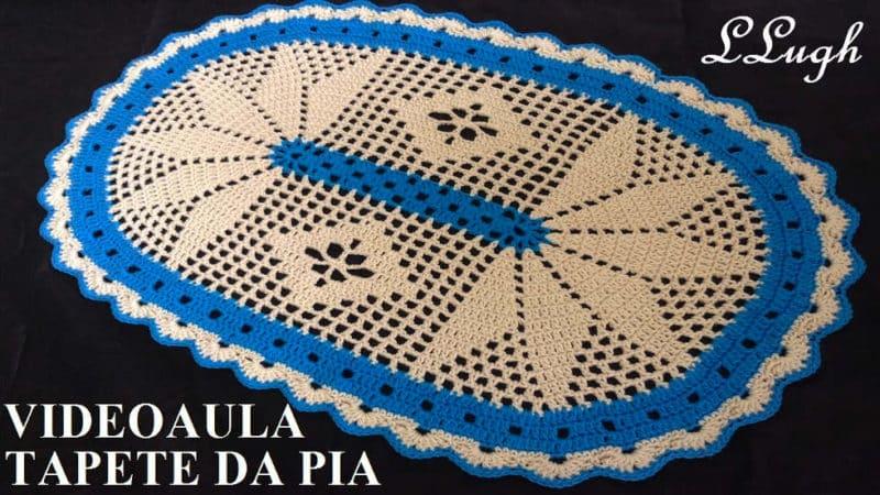 TAPETE DA PIA (JOGO DE BANHEIRO HARMONIA) #LUIZADELUGH [VÍDEO AULA]