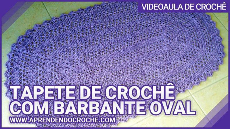 TAPETE DE CROCHÊ COM BARBANTE OVAL - APRENDENDO CROCHÊ | [VÍDEO AULA]
