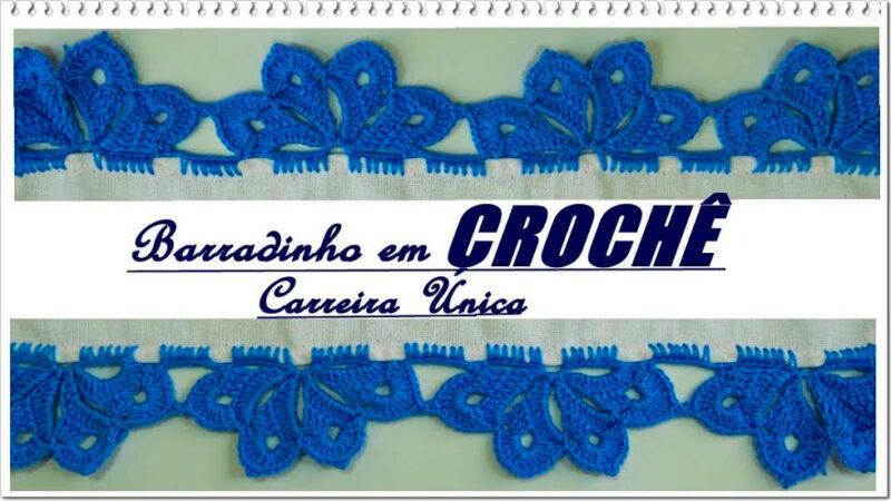 BARRADO EM CROCHÊ CARREIRA ÚNICA   PONTO DE CROCHÊ PASSO A PASSO [VÍDEO AULA]