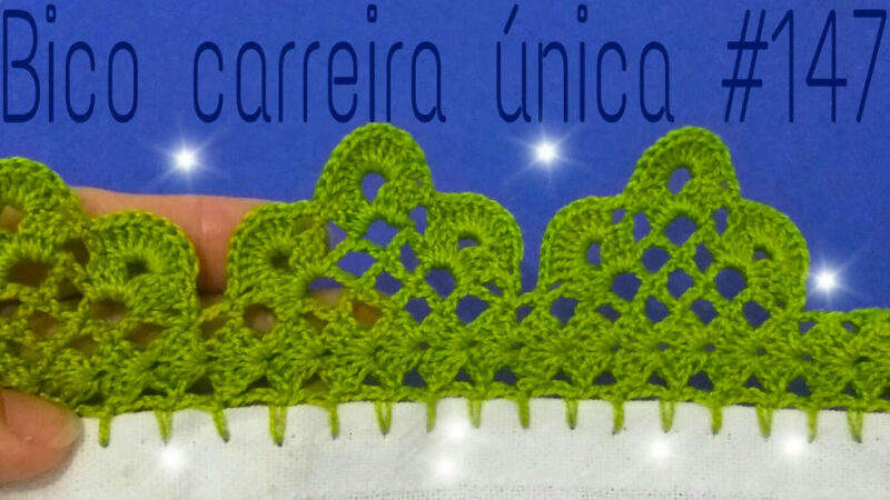 BICO DE CROCHÊ CARREIRA ÚNICA #147 | PONTO DE CROCHÊ PASSO A PASSO [VÍDEO AULA]