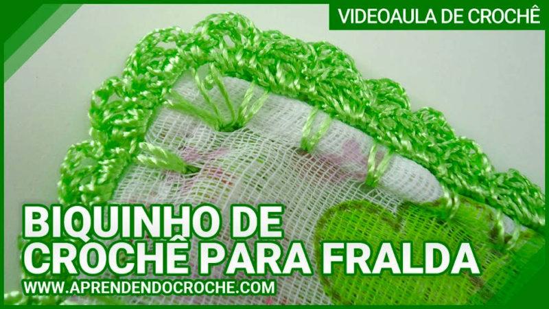 BIQUINHO DE CROCHE PARA FRALDA APRENDENDO CROCHÊ | PASSO A PASSO [VÍDEO AULA]