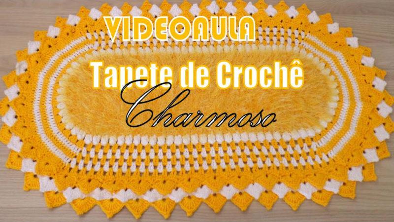 TAPETE DE CROCHÊ CHARMOSO DIANDRA SCHMIDT ROSA | PASSO A PASSO [VÍDEO AULA]