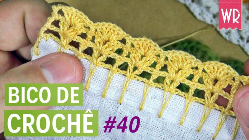 BICO DE CROCHÊ FÁCIL #40 - WAGNER REIS | PASSO A PASSO [VÍDEO AULA]