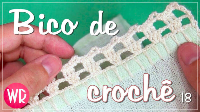 BICO DE CROCHÊ FÁCIL, BONITO E DELICADO PARA INICIANTES #18   CURSO DE CROCHÊ COMPLETO
