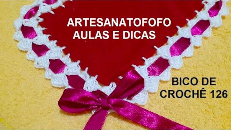BICO EM CROCHÊ COM PASSA FITAS CROCHÊ 126 #BICODECROCHEPASSAFITAS [VÍDEO AULA]