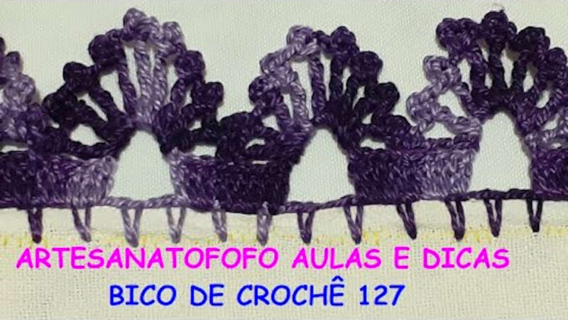 BICO EM CROCHÊ FÁCIL CROCHÊ 127 #BICODECROCHE PASSO A PASSO [VÍDEO AULA]