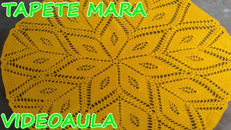 TAPETE REDONDO DE CROCHÊ PASSO A PASSO [VÍDEO AULA] TAPETE MARA #LUIZADELUGH