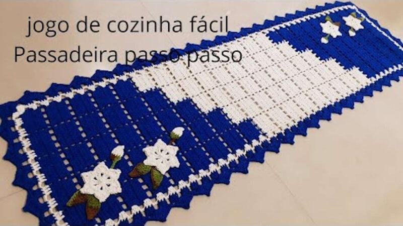 CROCHÊ PARA INICIANTES | PASSADEIRA DUAL COLOR FÁCIL E ECONÔMICA PASSO A PASSO