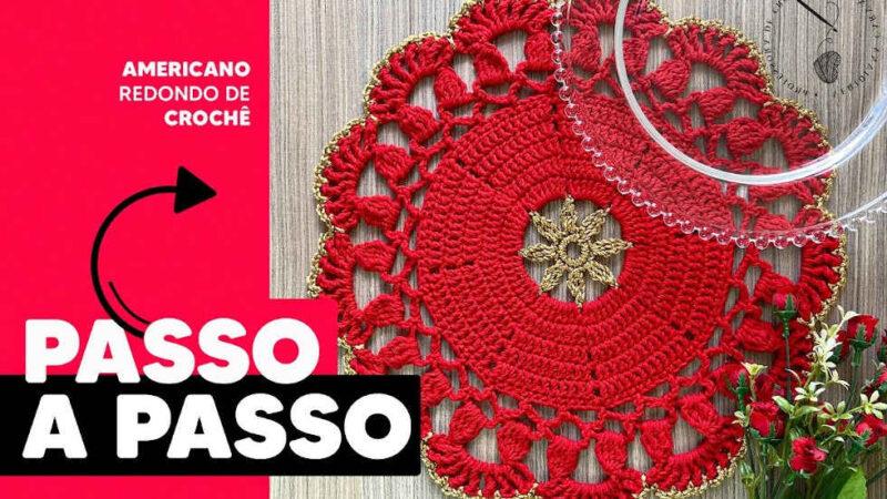 SUPLAT CROCHÊ PASSO A PASSO AMERICANO REDONDO DE CROCHÊ LOUISE L VERIDIANA CARVALHO