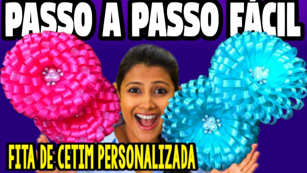 FITA DE CETIM PERSONALIZADA COMO FAZER PASSO A PASSO FÁCIL